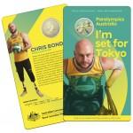 2020 $1 Australian Paralympic Team - Ambassador Chris Bond Coloured Coin/Card Uncirculated