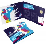 2020 $2 ICC Women's T20 World Cup Cricket Coloured Coin/Folder