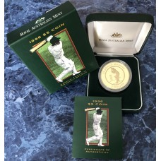 1996 $5 A Special Tribute to Sir Donald Bradman Proof Coin