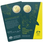 2020 50¢ Round Gold Plated Australian Olympic Team Tokyo Olympic Games Coin/Card Uncirculated