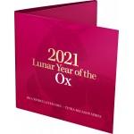2021 50¢ Lunar Year of the OX Tetra-decagon Coin/Card Uncirculated