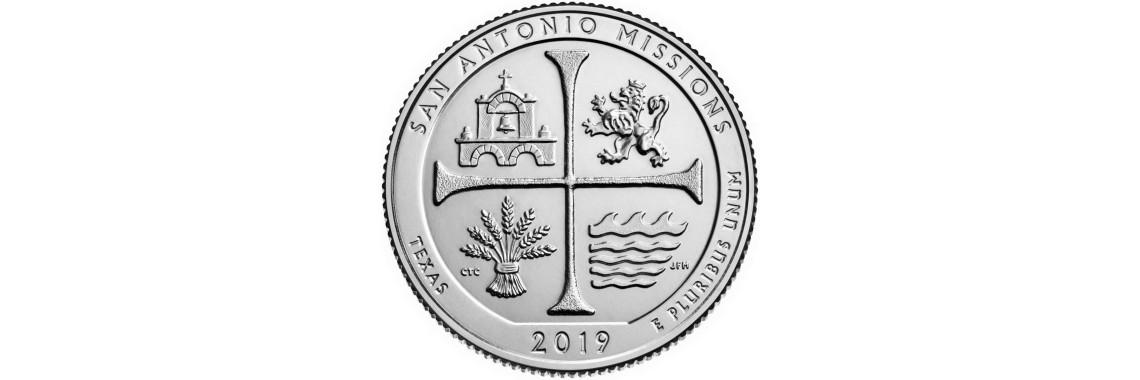 2019 US Beautiful Quarter San Antonio Missions