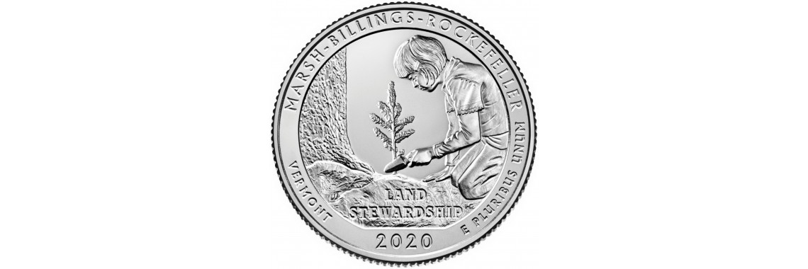 2020 US Beautiful Quarter Marsh-Billings-Rockefeller National
