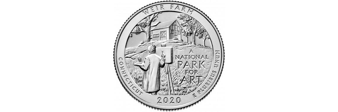 2020 US Beautiful Quarter Weir Farm National Historic Site