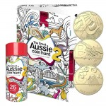 2021 $1 The Great Aussie Coin Hunt A-Z Set of 26 In a Cylinder and Folder