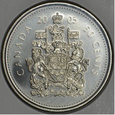 2005 50¢ Canadian Coat of Arms Coin