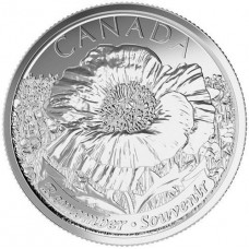 2015 25¢ Canadian Plain Poppy Coin
