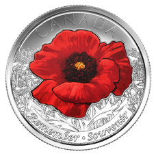2015 25¢ Canadian Red Poppy Coin