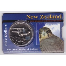 2006 $5 New Zealand Falcon Coin Pack