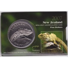2007 $5 New Zealand Tuatara Coin Pack