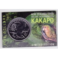 2009 $5 New Zealand Kakapo Coin Pack