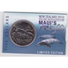 2010 $5 New Zealand Maui's Dolphin Coin Pack